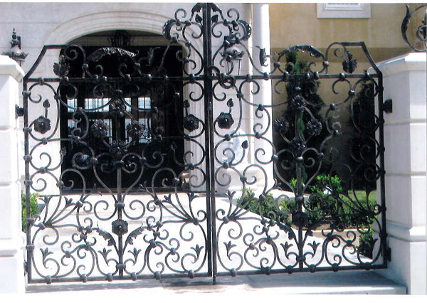 Wrought Iron Entry Gate - Long Beach, CA
